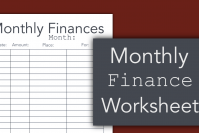 Monthly Finance Worksheet For College Students