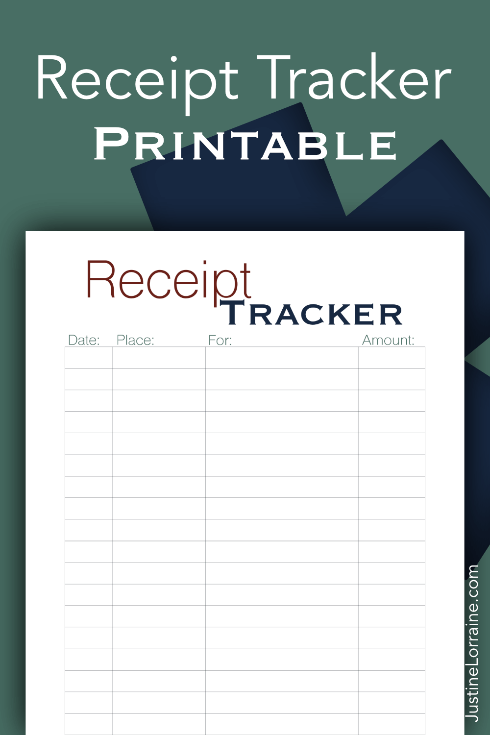 Keeping track of how much we spend is hard. I've created a Receipt Tracker printable to help keep track of receipts and spending.